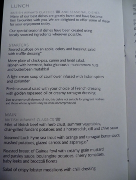 original_British_Airways_New_First_Class_Review-Lunch_Menu