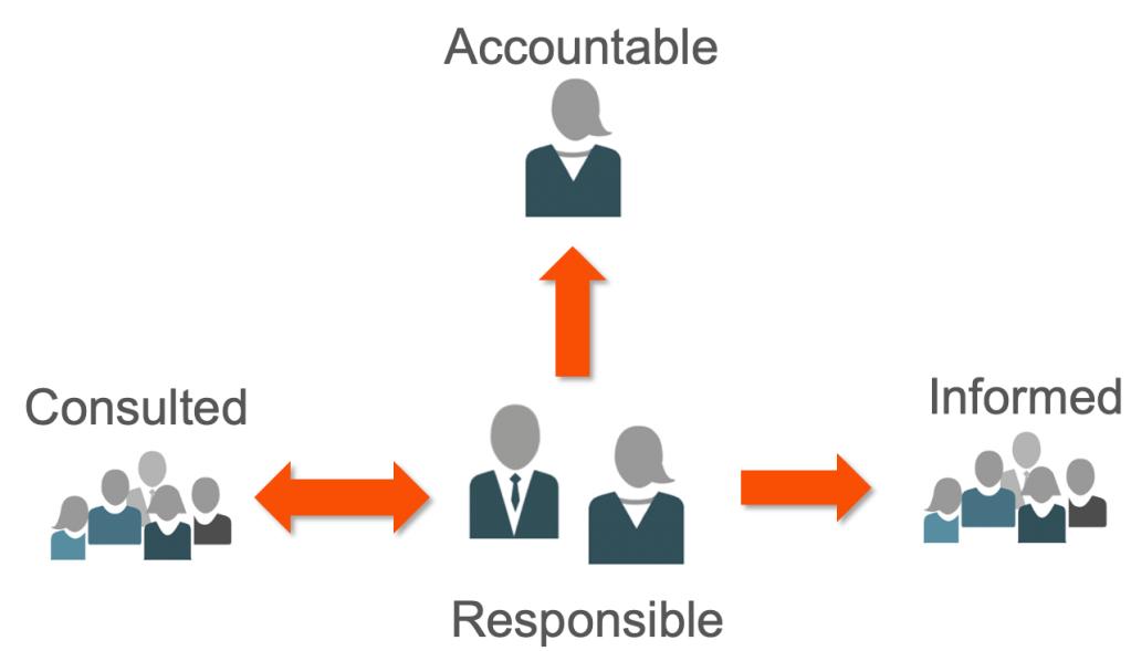 Figure 1 the flow of information between the roles